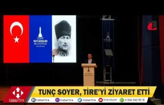 Tunç Soyer'in Tire ziyareti